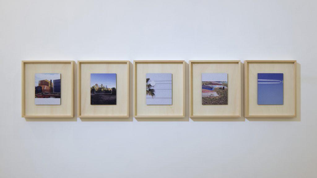 "Paolo Puddu ""Between Dreams and Memories"" 2017 – UV  print on sandpaper - 22x27 cm each, in wooden frame 44x49 cm each - C.sy Galleria Raucci/Santamaria Napoli/Milano – Photo Amedeo Benestante Napoli"