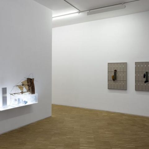 """001QP ex. view rs 17: Exhibition view of """"Questo progetto non ha un futuro"""" - 2017 - Galleria Raucci/Santamaria Napoli – 2017 – C.sy Galleria Raucci/Santamaria Napoli/Milano – Foto Amedeo Benestante Napoli"""