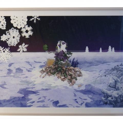"David Robbins: ""Untitled (Clover)"" 2017 – Digital print on cotton paper – 96,5x73 cm – C.sy Galleria Raucci/Santamaria Napoli/Milano, photo Amedeo Benestante Napoli"