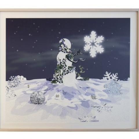 "David Robbins: ""Untitled (Flake)"" 2017 – Digital print on cotton paper – 84x71 cm – C.sy Galleria Raucci/Santamaria Napoli/Milano, photo Amedeo Benestante Napoli"