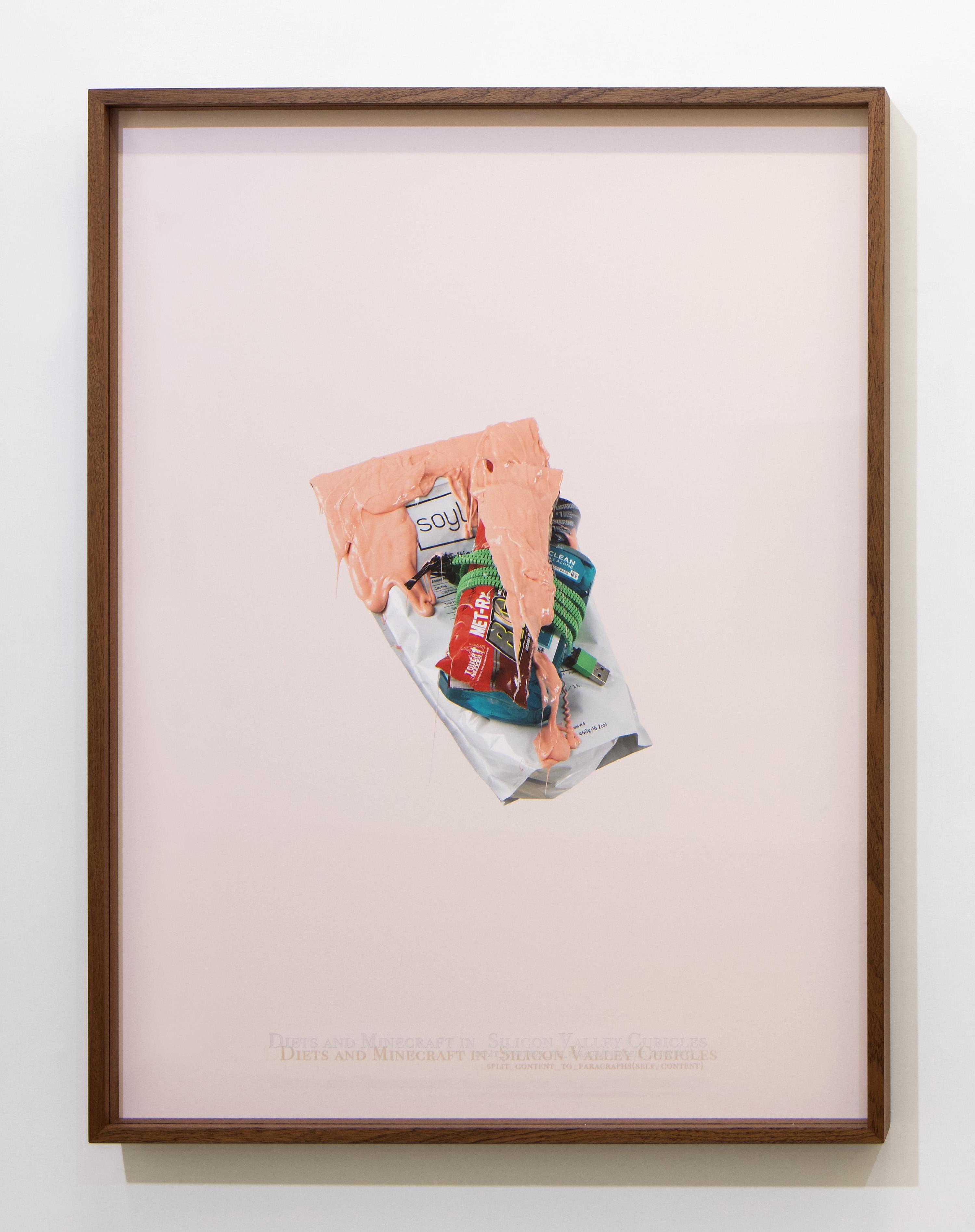 """125DC 17: Danilo Correale: """"When Algorithm Becomes Form #2"""" 2017 – Print on photographic paper and engraved plexiglass – 70x100 cm cm – C.sy Galleria Raucci/Santamaria Napoli/Milano, photo Amedeo Benestante, Napoli"""