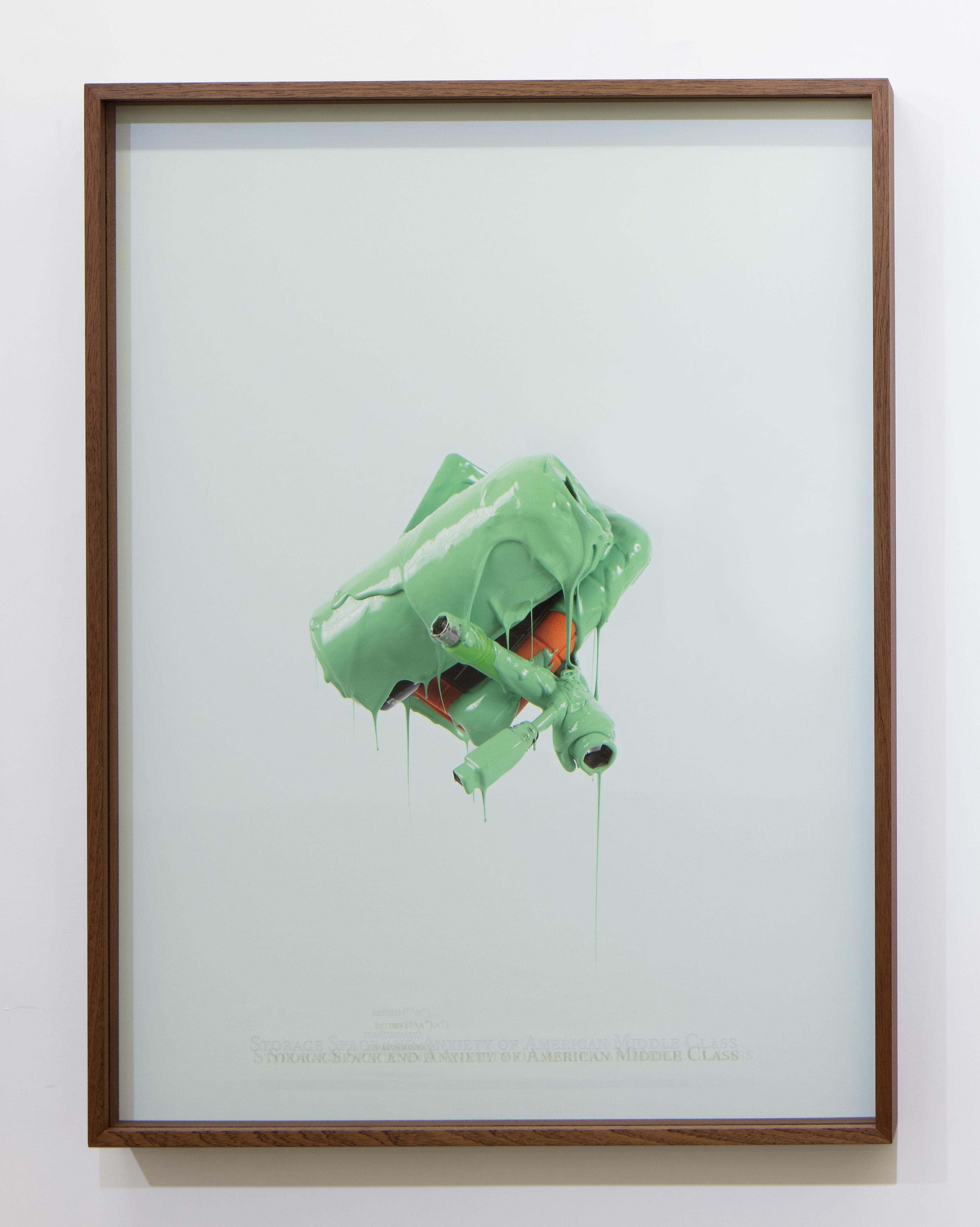 """Danilo Correale: """"When Algorithm Becomes Form #3"""" 2017 – Print on photographic paper and engraved plexiglass – 70x100 cm cm – C.sy Galleria Raucci/Santamaria Napoli/Milano, photo Amedeo Benestante, Napoli"""