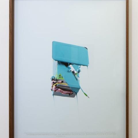"""Danilo Correale: """"When Algorithm Becomes Form #4"""" 2017 – Print on photographic paper and engraved plexiglass – 70x100 cm cm – C.sy Galleria Raucci/Santamaria Napoli/Milano, photo Amedeo Benestante, Napoli"""